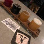 Here is a beer flight from Drekker, one of Fargo's many fine breweries.