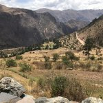 View from Pumamarca of the valley back towards Ollantaytambo.