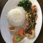 Grilled Tuna Fish with Rice