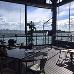 The Theatre Bar has a panoramic view of the coastline as its right under the Harbour bridge