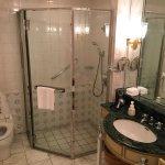 Shower panel in bathroom