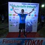 В этом месте был стар и финиш Kamala mini marathon, 5 ноября 2017.