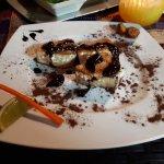 Poisson grillé à la sauce chocolat noir