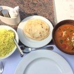 Paneer Masala with rice & paratha