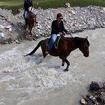 Horsetrakking to glacier