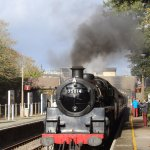 Steam train at Goodrington Station