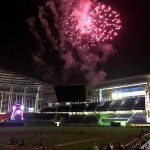 Fireworks post-game at Marlins Park