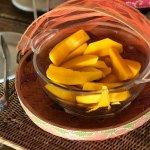 mango y frutas típicas, para el desayuno