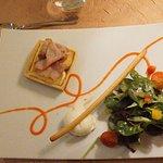 Reblochon / lard salade & sa boule de glace