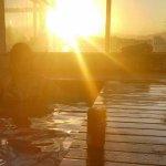 Por do sol lindo na piscina do Hotel