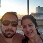 Eu e meu marido curtindo a piscina