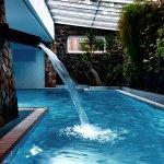 Une autre piscine, couverte cette fois ci, devant le hamam et le sauna !