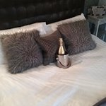 Fabulous bed and prosecco