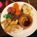 Roast beef dinner - amazing!