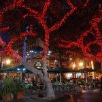 El histórico quiosco del Parque de San Telmo en la pasada Navidad