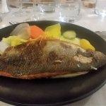 Filet de poisson, légumes croquants et fine purée