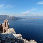 Byzantine Castle Ruins Oia