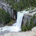 Vernal Falls from John Muir Trail. Note the viewer platform.