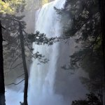 View of Vernal Falls from Mist Trail