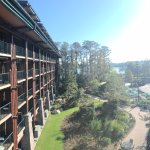 This was the view from our room on the 4th floor of Wilderness Lodge