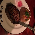 Steak and the loaded baked potato