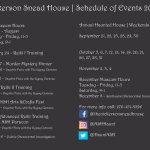 2018 Schedule of Events