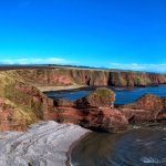 looking over to the three sisters at seaton cliffs
