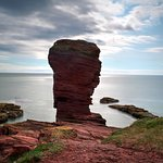long exposure of the deil's head at seaton cliffs