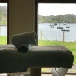 massage room overlooking the bay in our Marine Spa