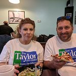Eating lunch with the Taylors
