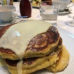 They serve a heck of stack of pancakes!