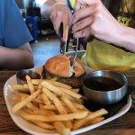Burger with gluten-free bun