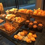 Assortment of fresh pastries for breakfast