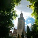 La grande mosquée de Paris depuis le jardin