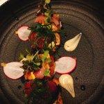 Fish bruschetta