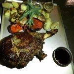 Charred steak