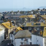 Across the rooftops to Godrevy.