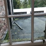 Scaffolding pole view for £150 per night?