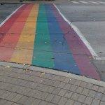 Travessia de pedestres no bairro gay. Show!!