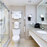 Seaport's guestrooms offer a choice of walk-in showers or tub/showers.