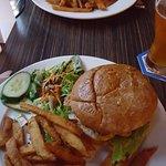Garrick Burger and Sweet Potato and Chickpea burger