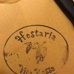 Hostaria mark on paper table cover