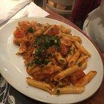 Main 2 - Penne Arrabbiatta (a bit of a kick from the chilli, chicken)