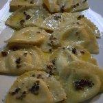 ravioli in a truffle butter sauce