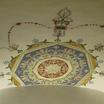 Restored ceiling painting