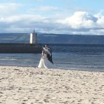 newlywed couple- stunning location for wedding photos