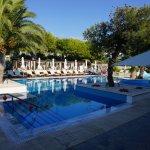 Serene and beautiful pool area.