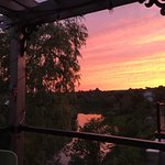 The sunset off our patio.. the most popular place in the summer is to sit on this patio!