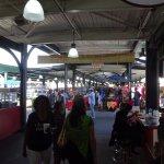 The flea market side