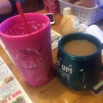coffee and water at Lamberts